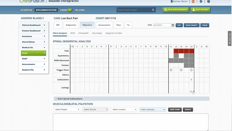 ChiroFusion Charting