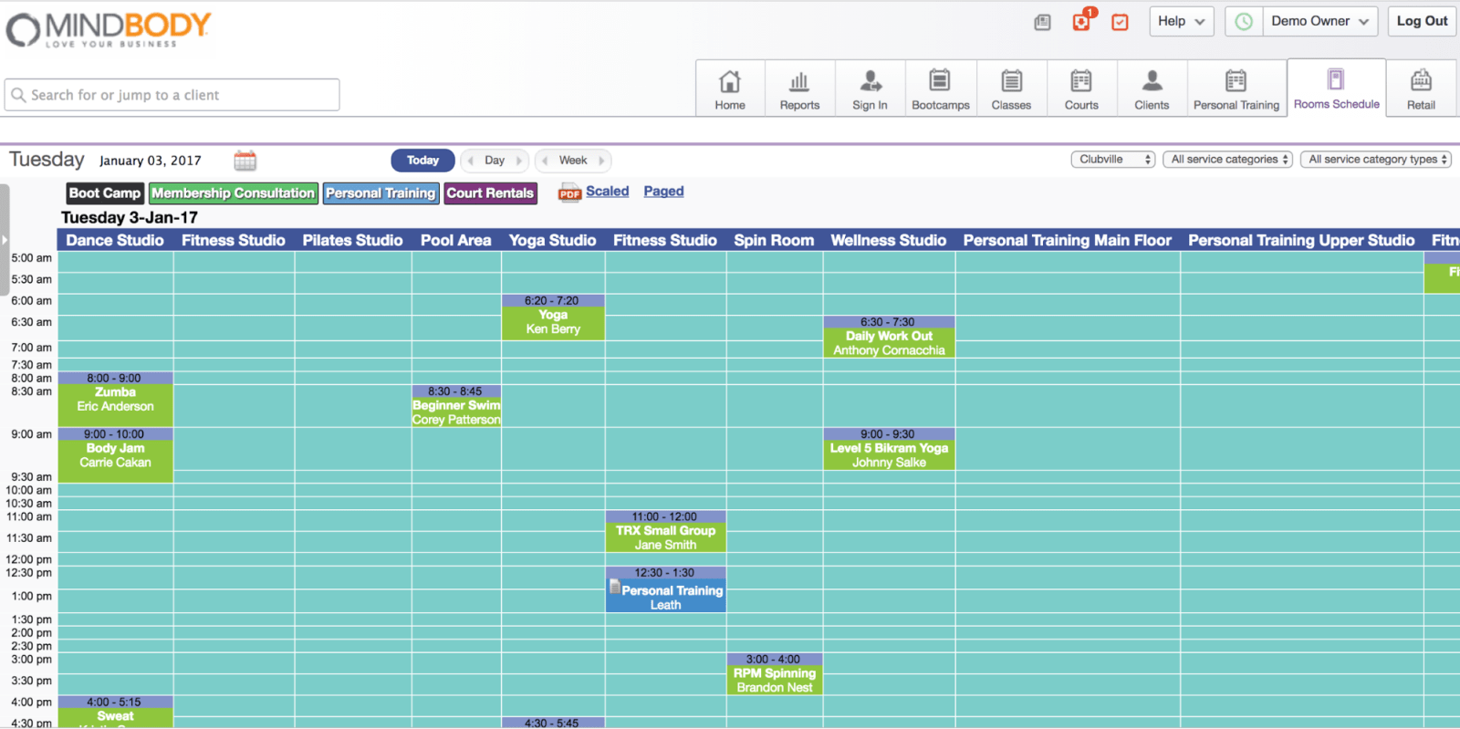 MINDBODY Scheduler