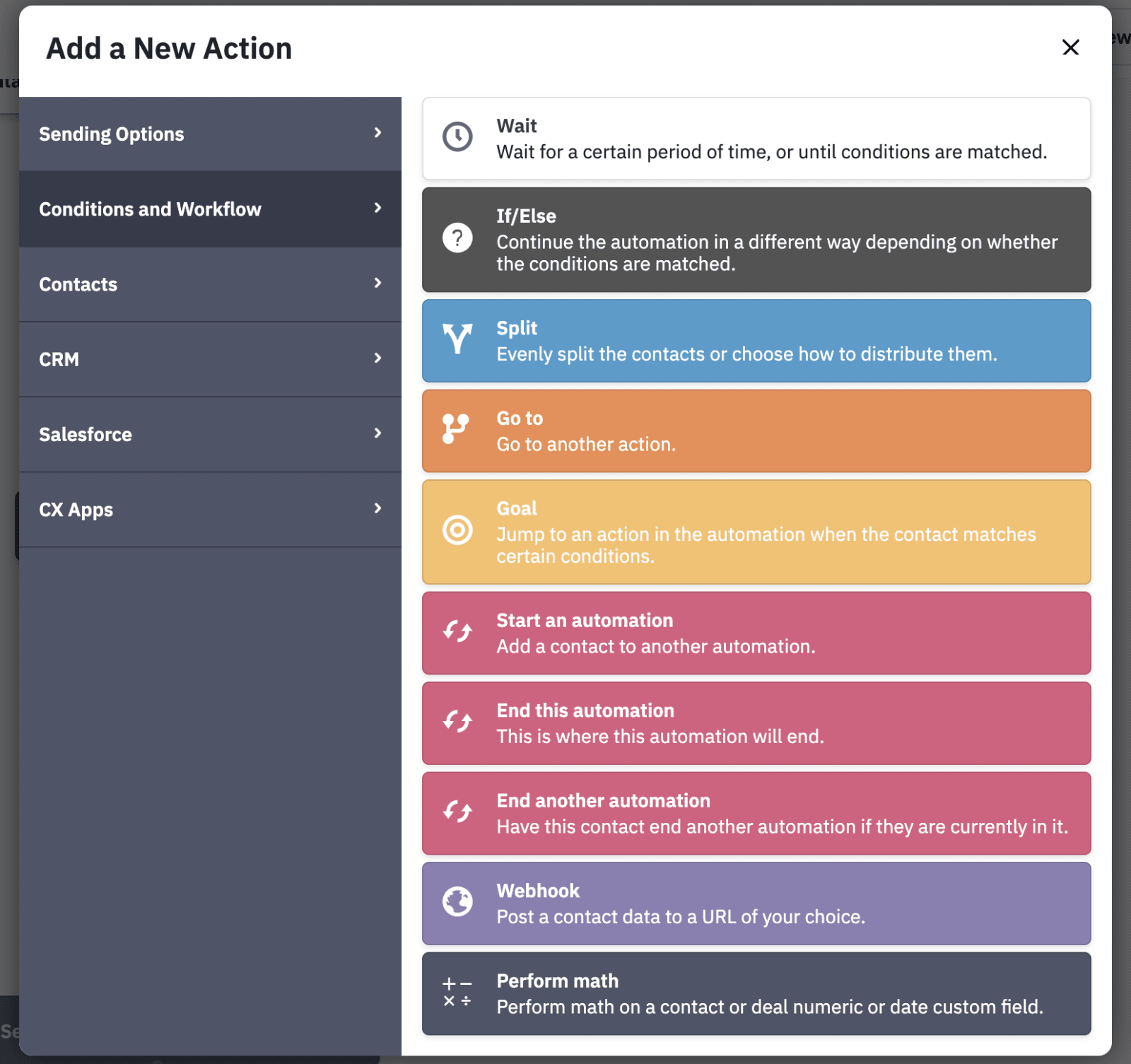 ActiveCampaign Review Automation Trigger Conditions