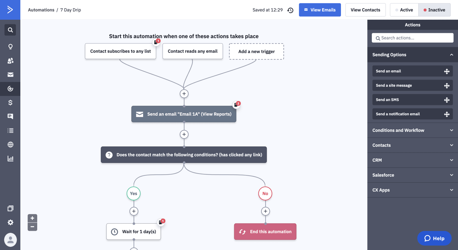 ActiveCampaign Review Automation Workflow