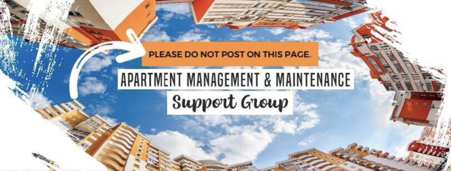Apartment Management & Maintenance Support Group Facebook Group Photo