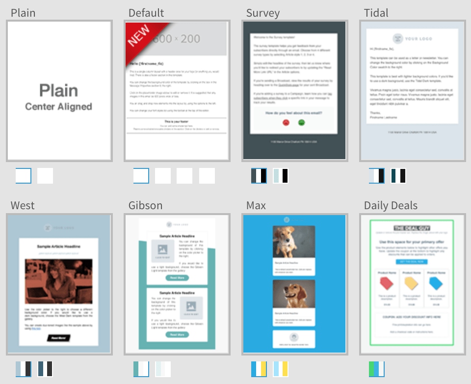 AWeber Review Email Templates