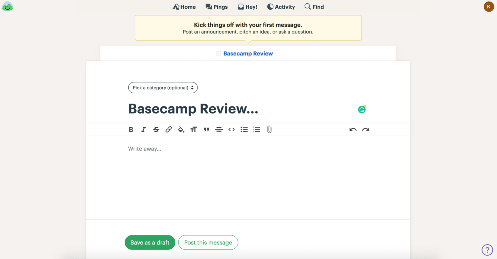 Basecamp Review Specifying Privacy Settings