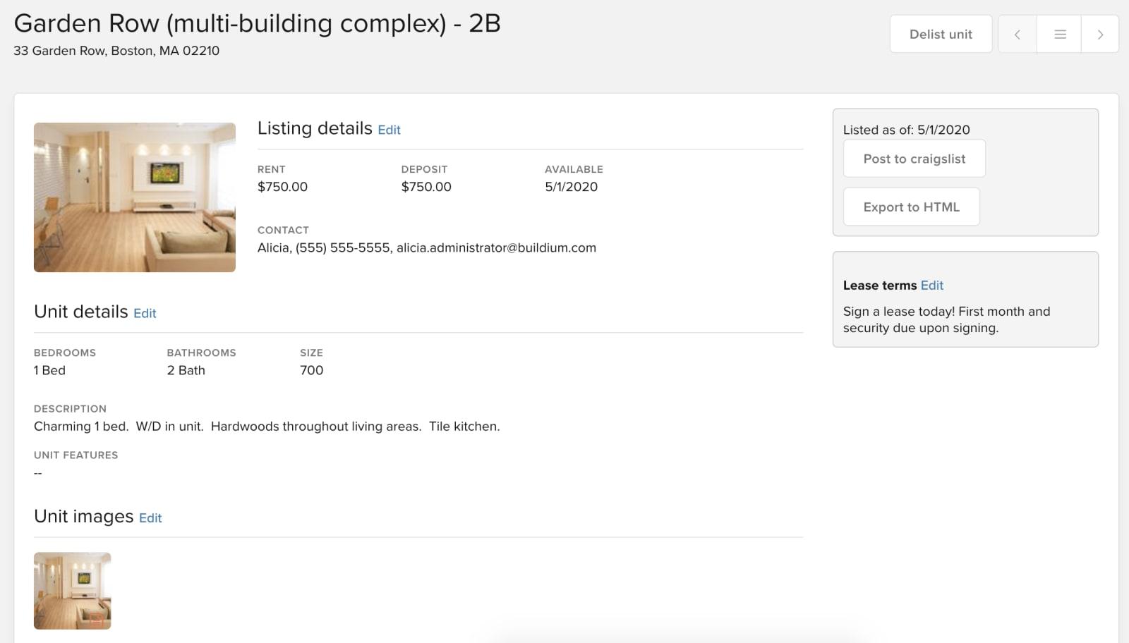 buildium listing