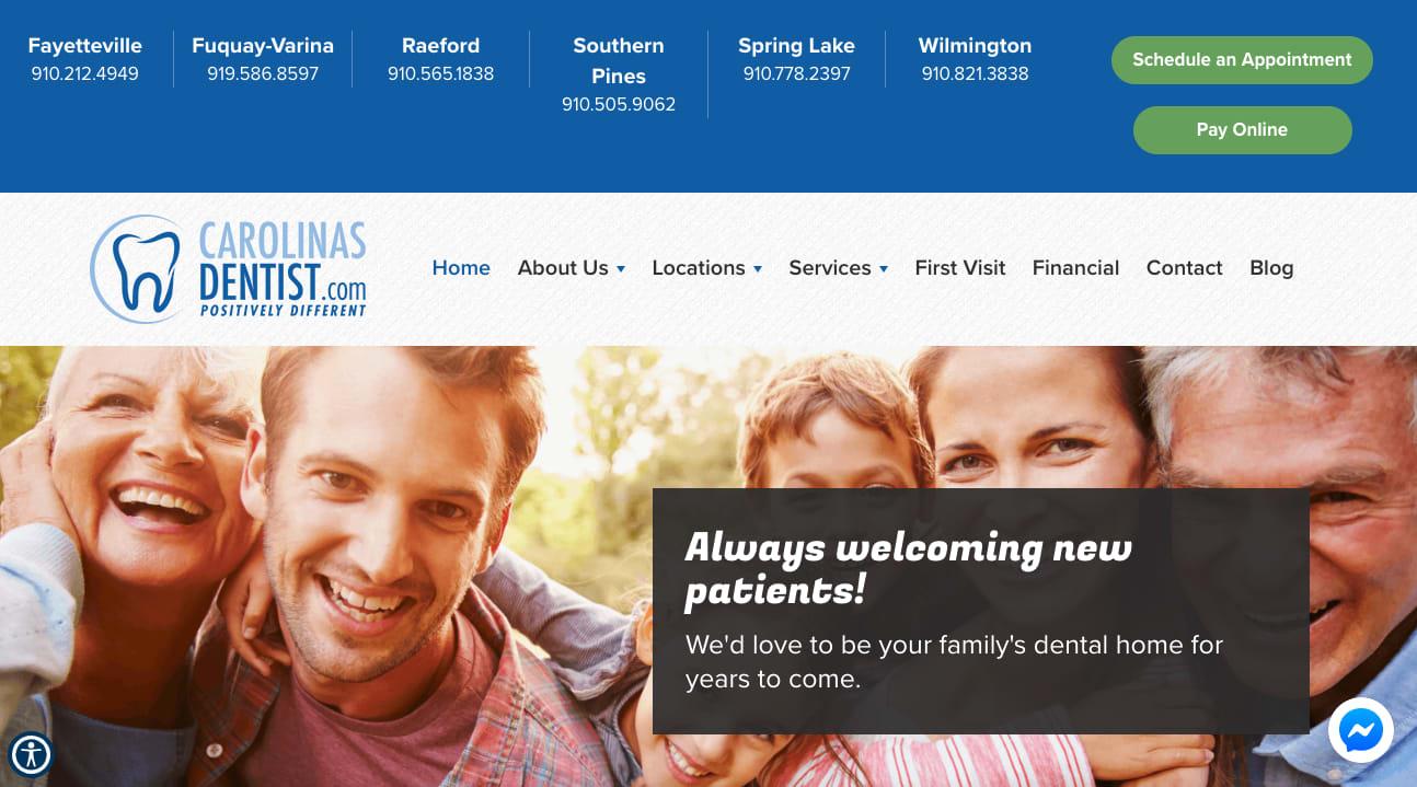 CarolinasDentist Website