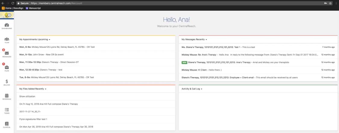 centralreach client portal