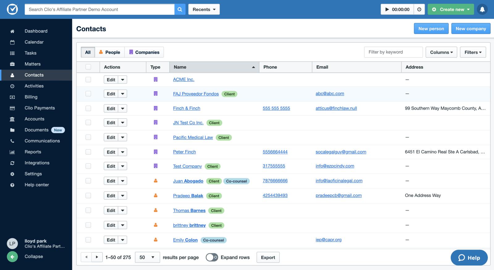 clio manage contact management image