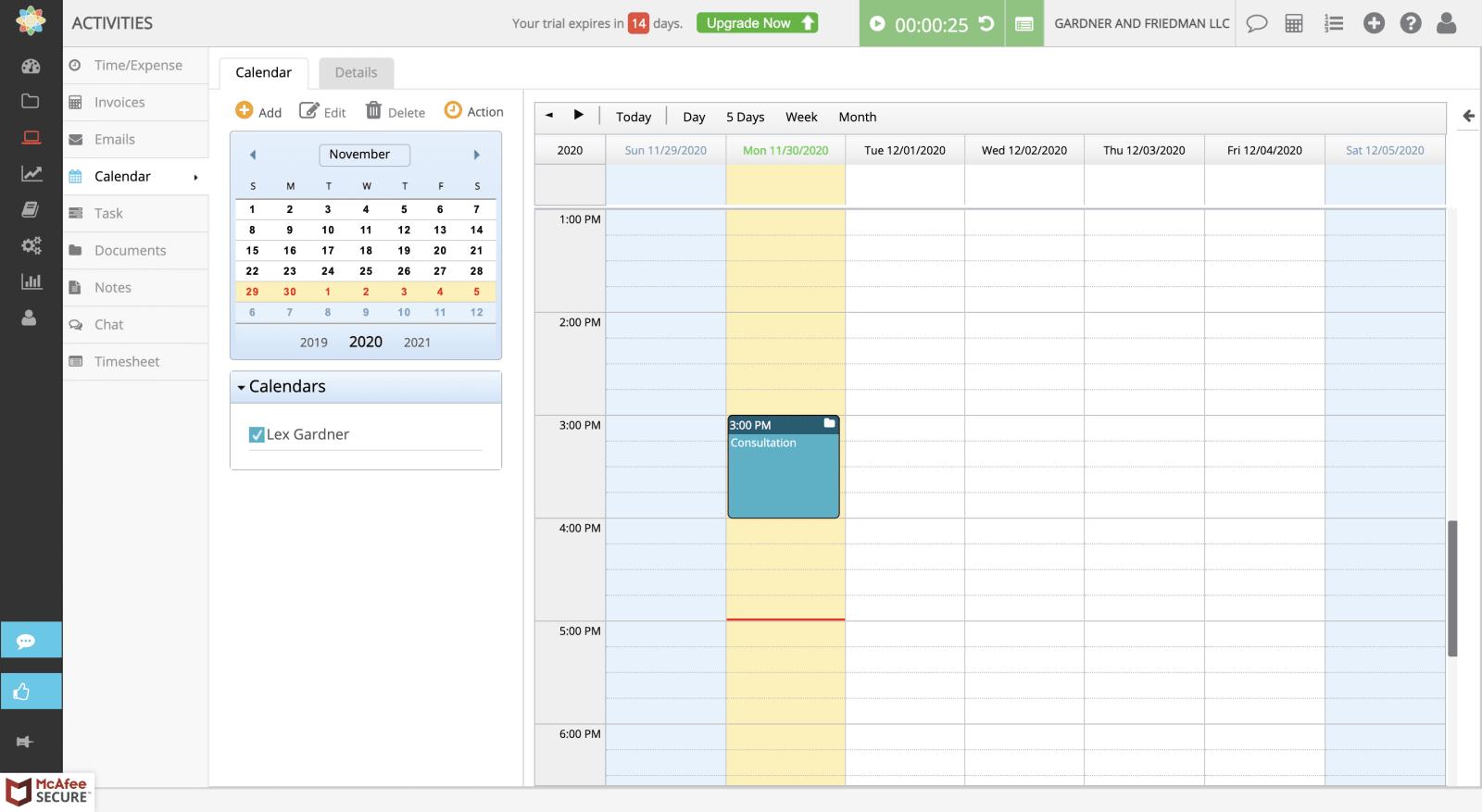 cosmolex calendar image