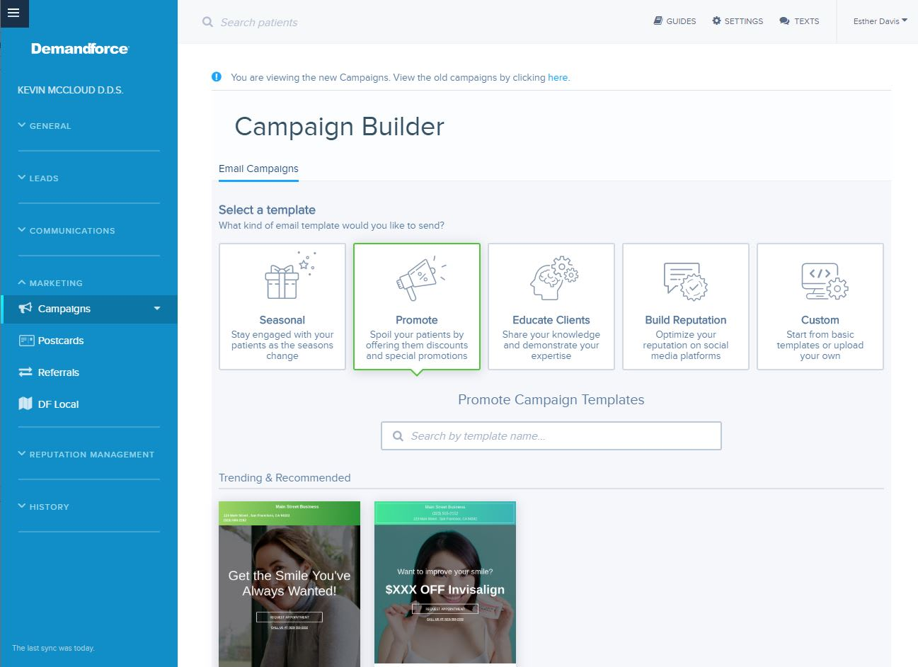 Demandforce Templates