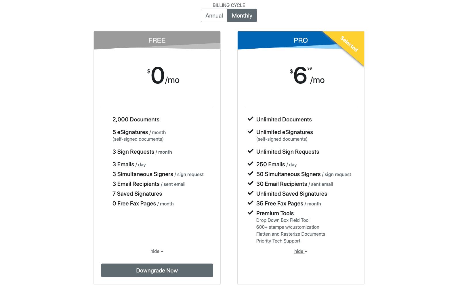DocHub Pricing