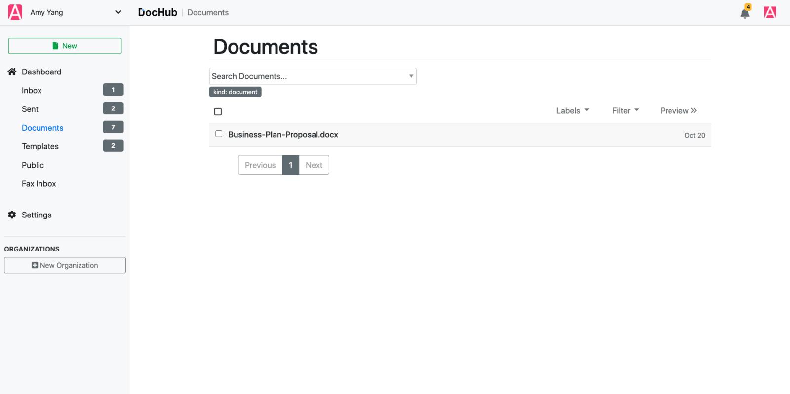 DocHub Document Storage