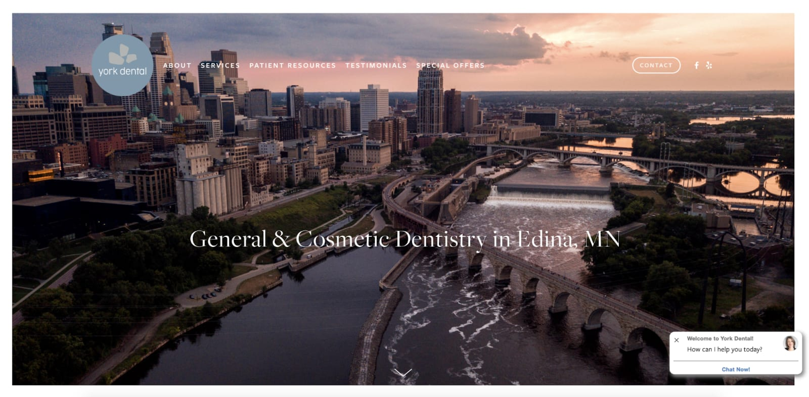 York Dental website
