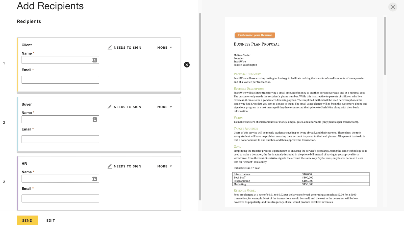 DocuSign Templates