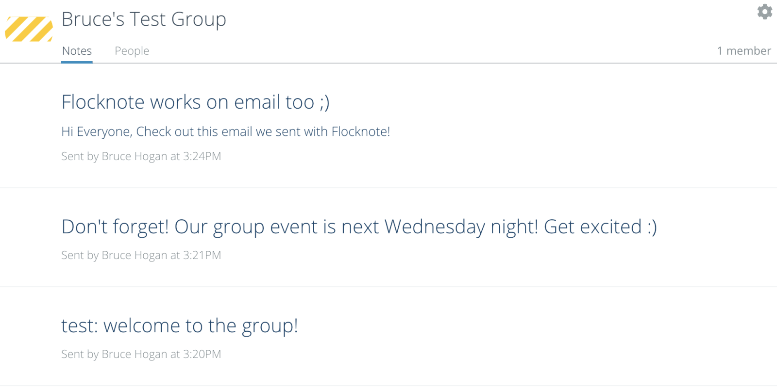Flocknote group page