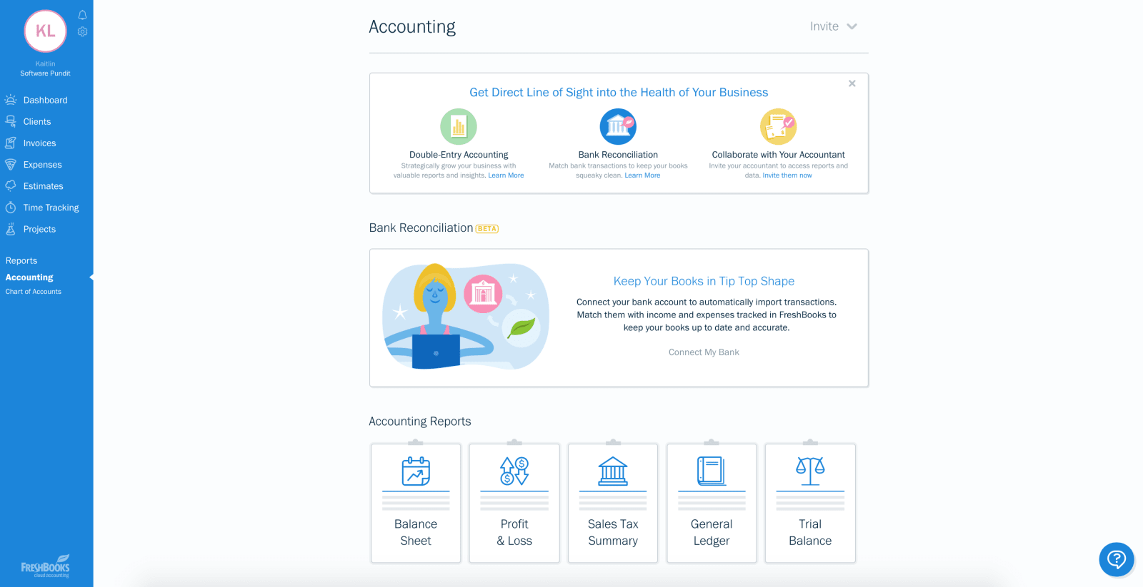 Freshbooks High End Accounting Software