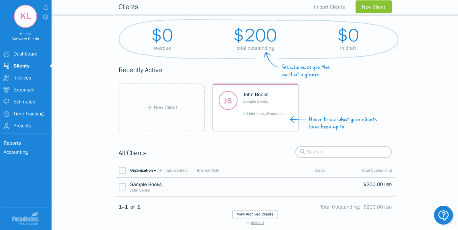 Freshbooks How To Add An Advanced Payment