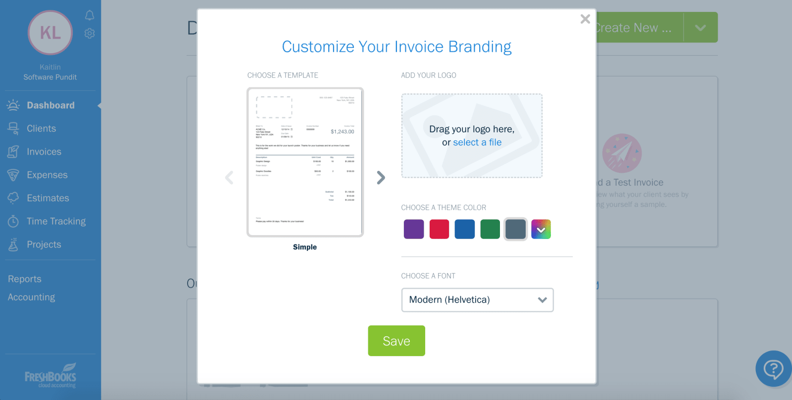 Customize Freshbooks Reports