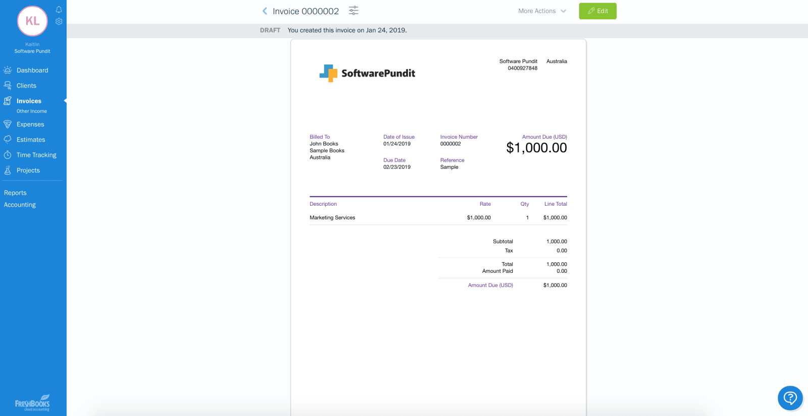 Freshbooks International Payments