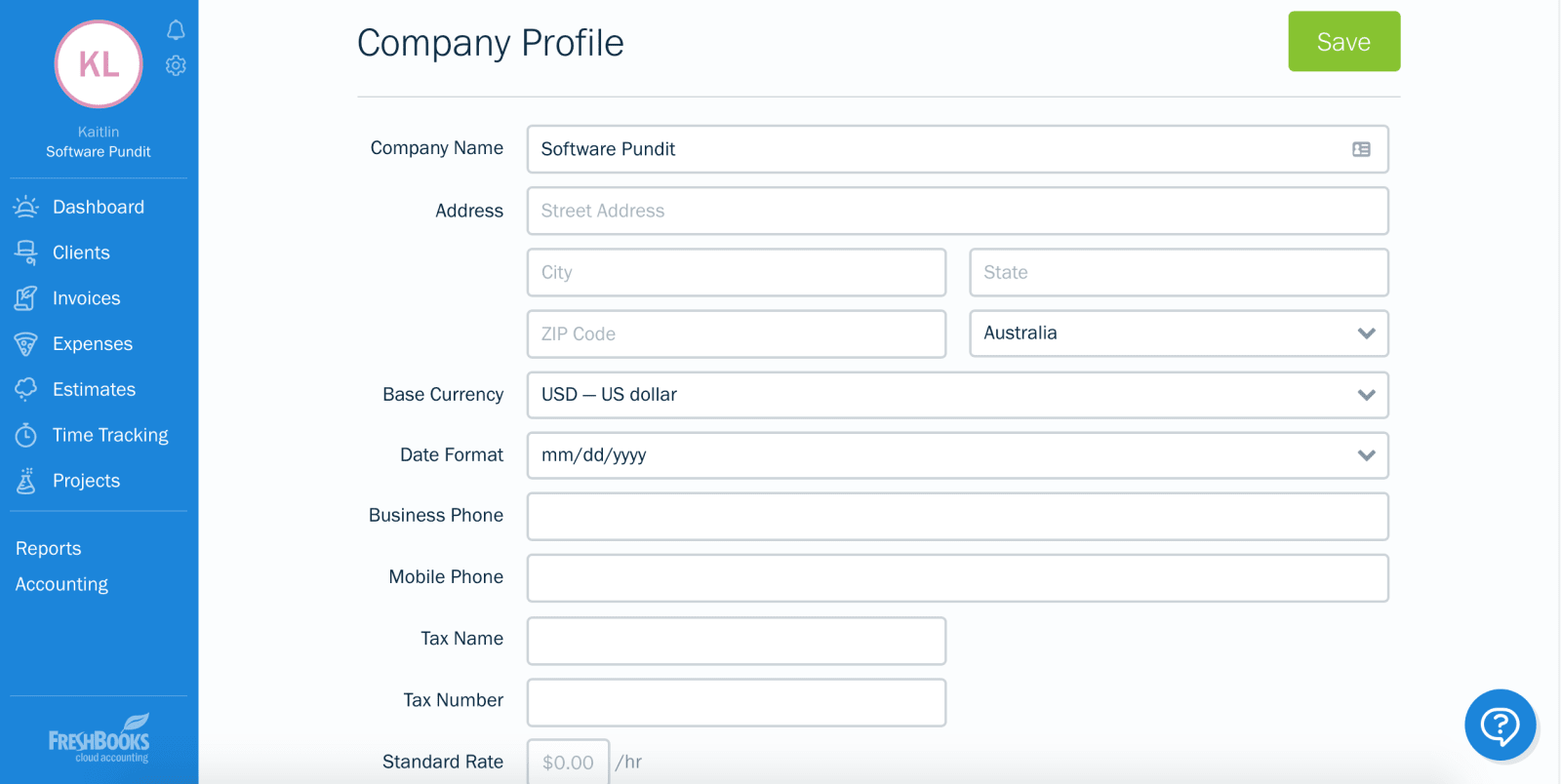 Freshbooks Chart Of Accounts Revised
