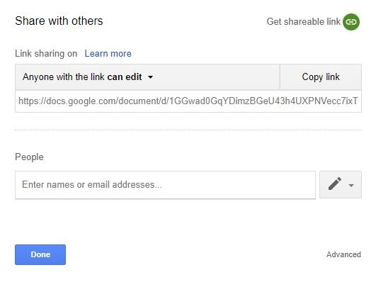 Google Drive Review Sharing Link with Others