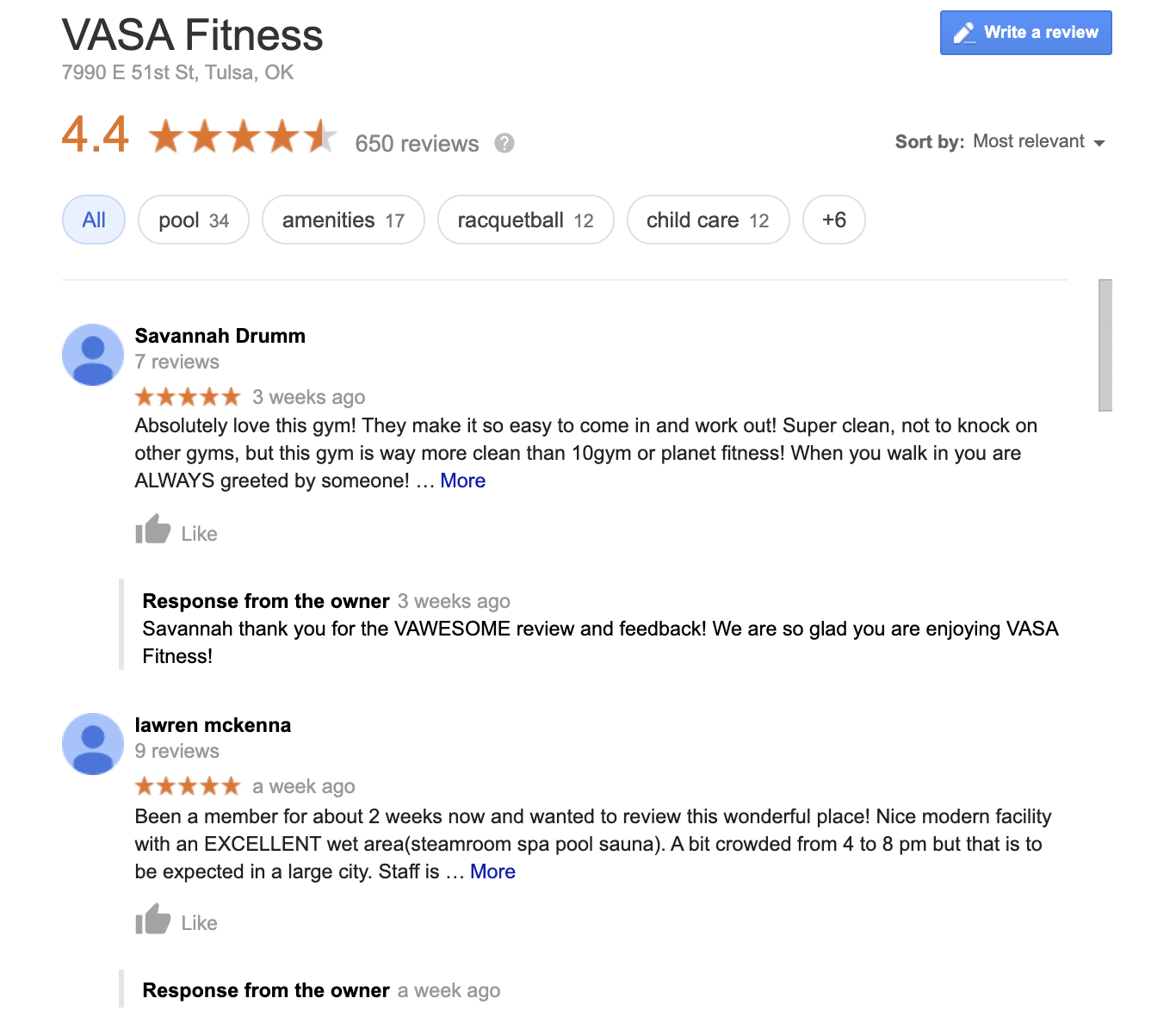 Google customer review