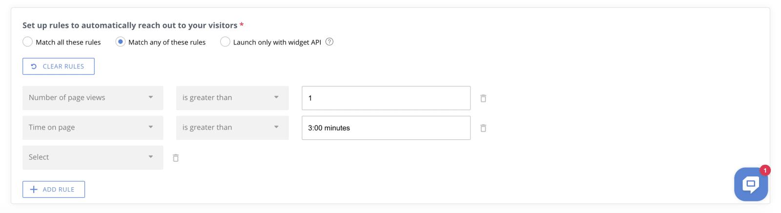 HelpCrunch Targeted Messages