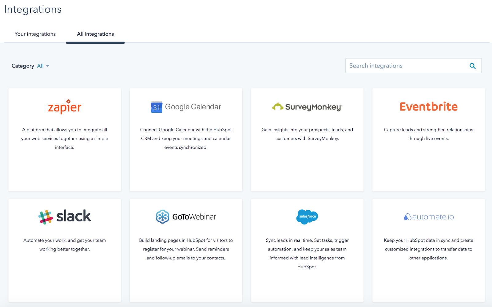 HubSpot Review Supported Integrations