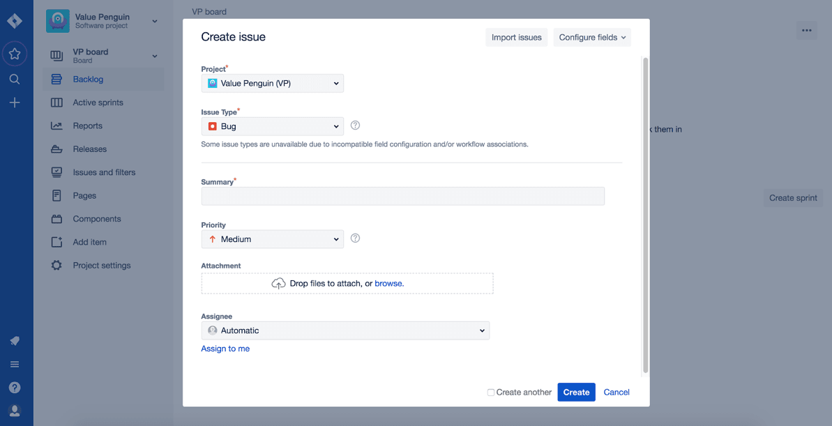 Jira Review Creating Issues