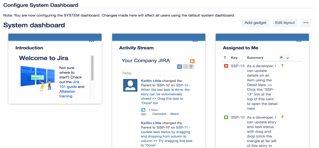 Jira Review Dashboards