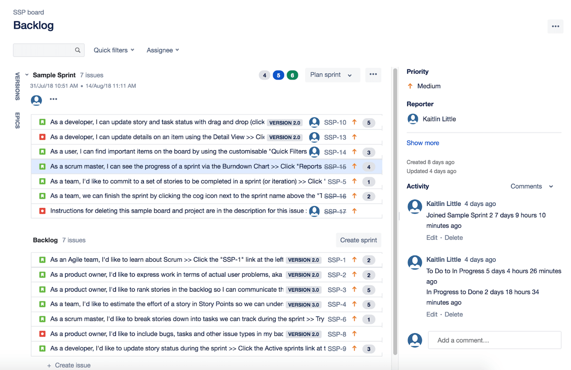 Jira Review Managing Backlog