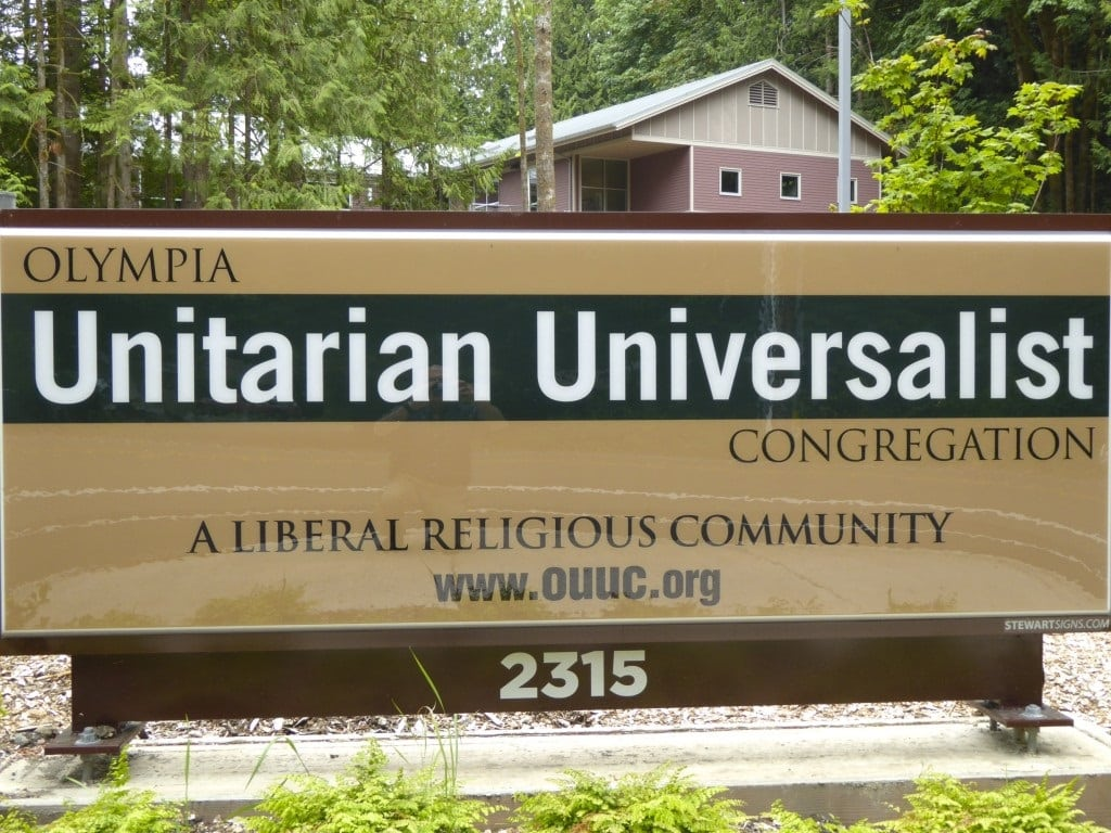 Olympia Unitarian Universalist Congregation Church Sign