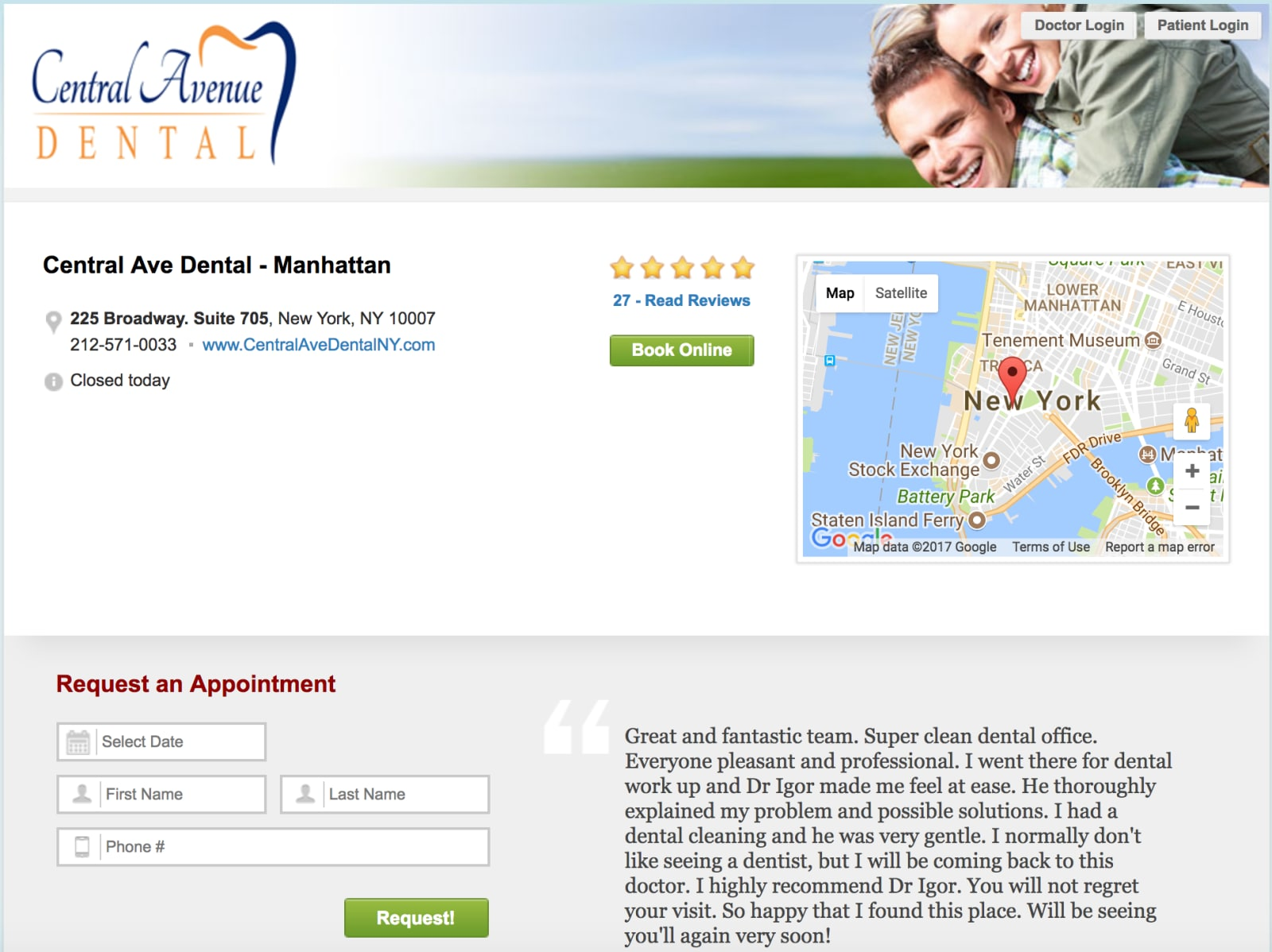 Patient Connect 365 Profile Example