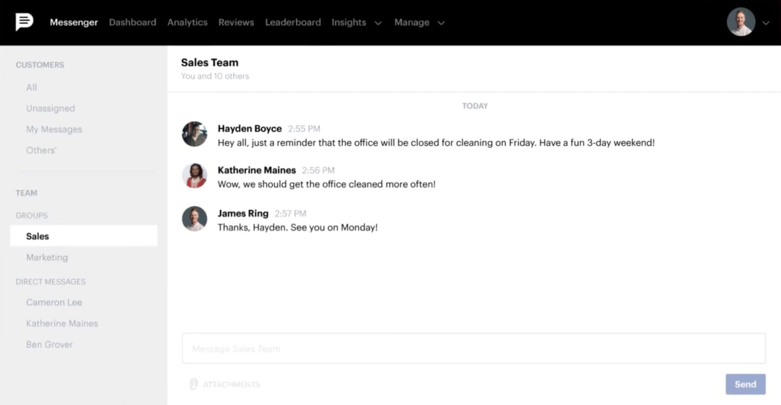 Podium Team Chat