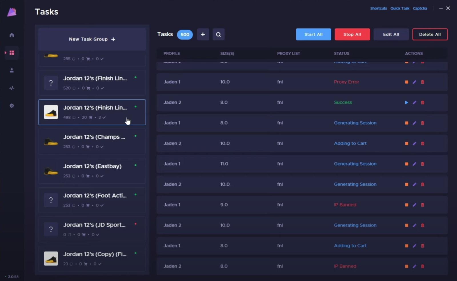 Cybersole task screenshot