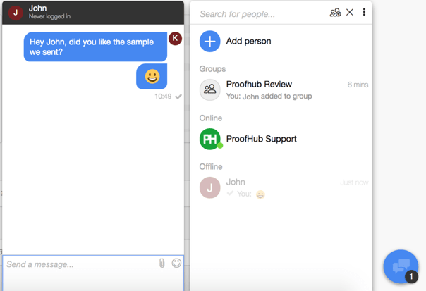 ProofHub Review Group Chat