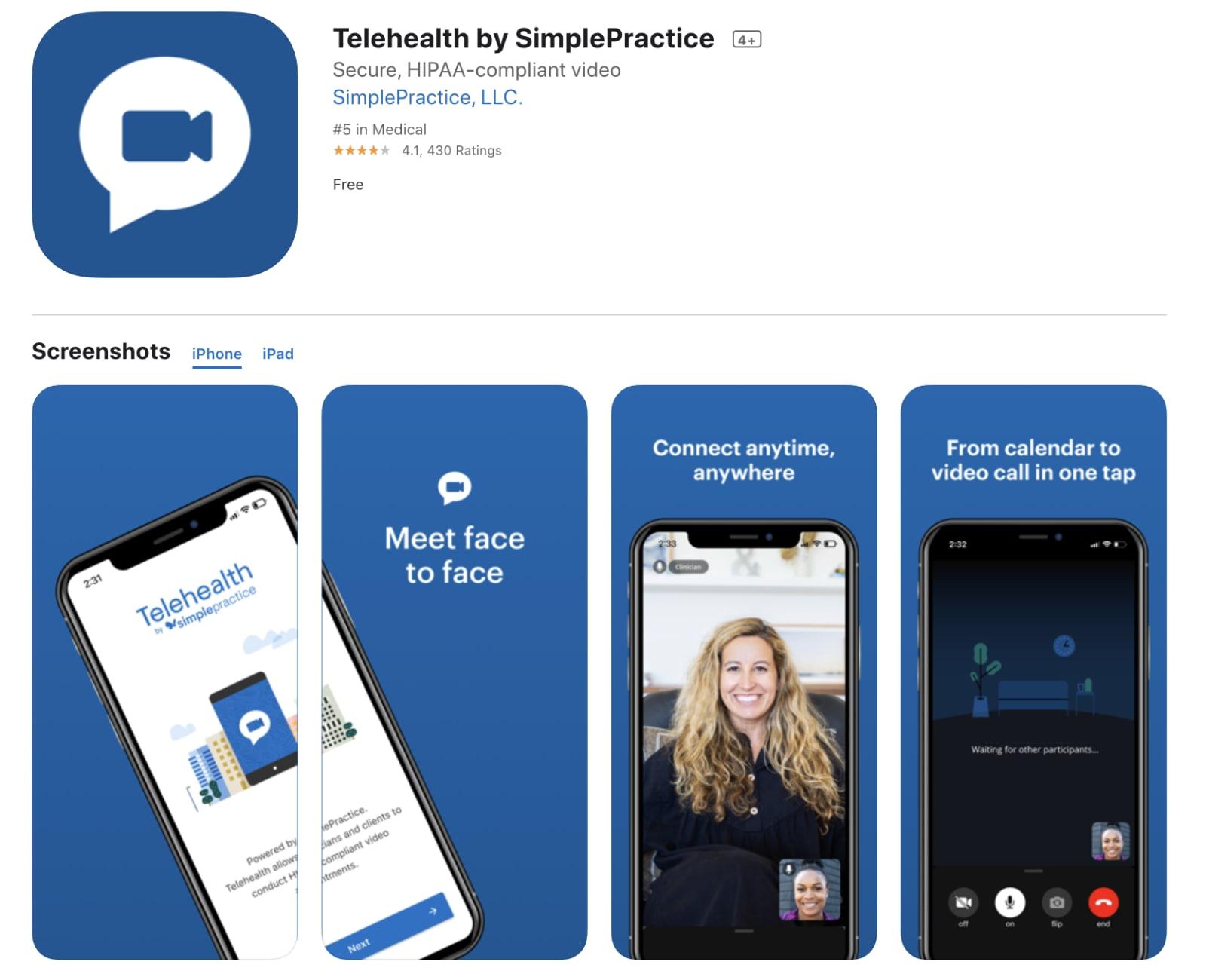SimplePractice Mobile App