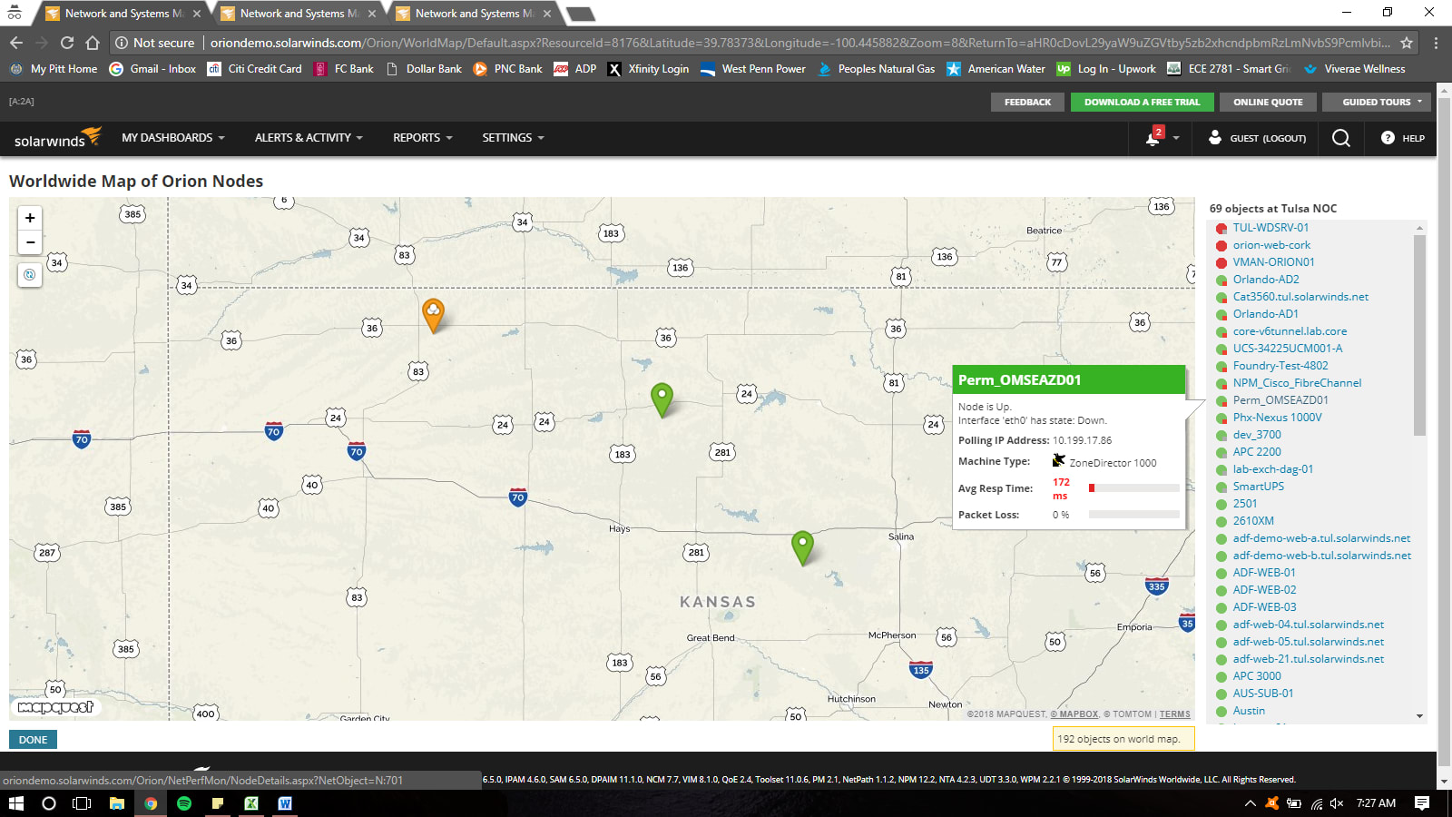 SolarWinds Orion NPM Resource Mapping