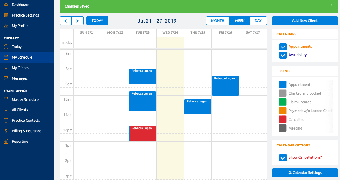 TherapyAppointment Calendar