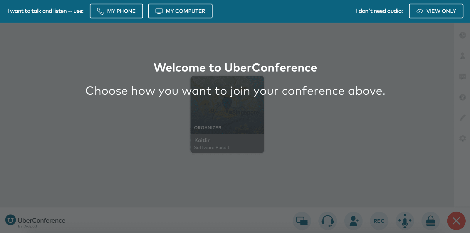 UberConference Review Joining Conference