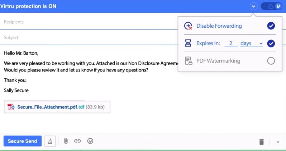 Virtru Gmail encryption