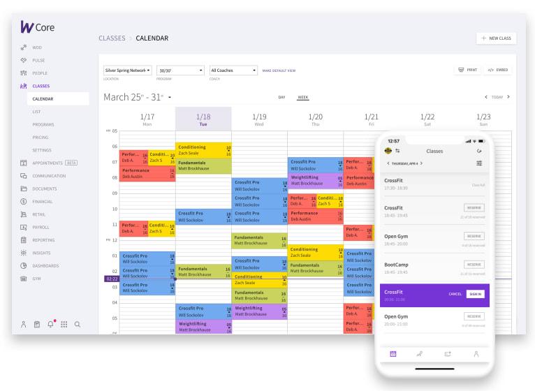 Wodify calendar