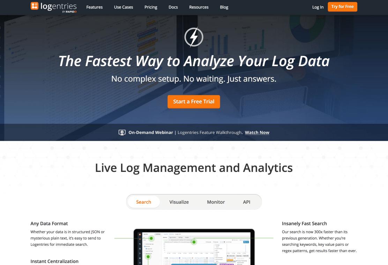 Website of Logentries