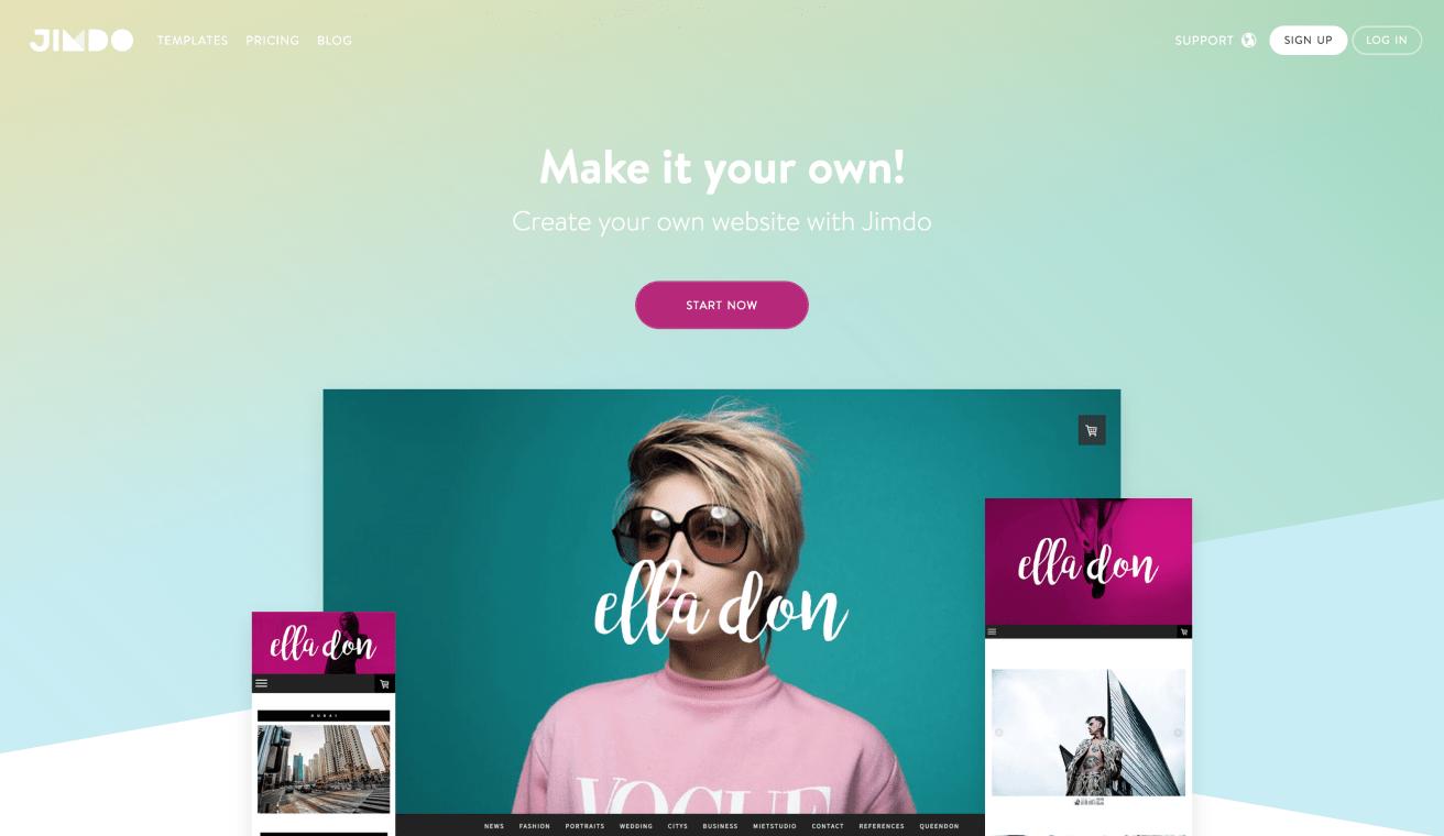 Website of Jimdo
