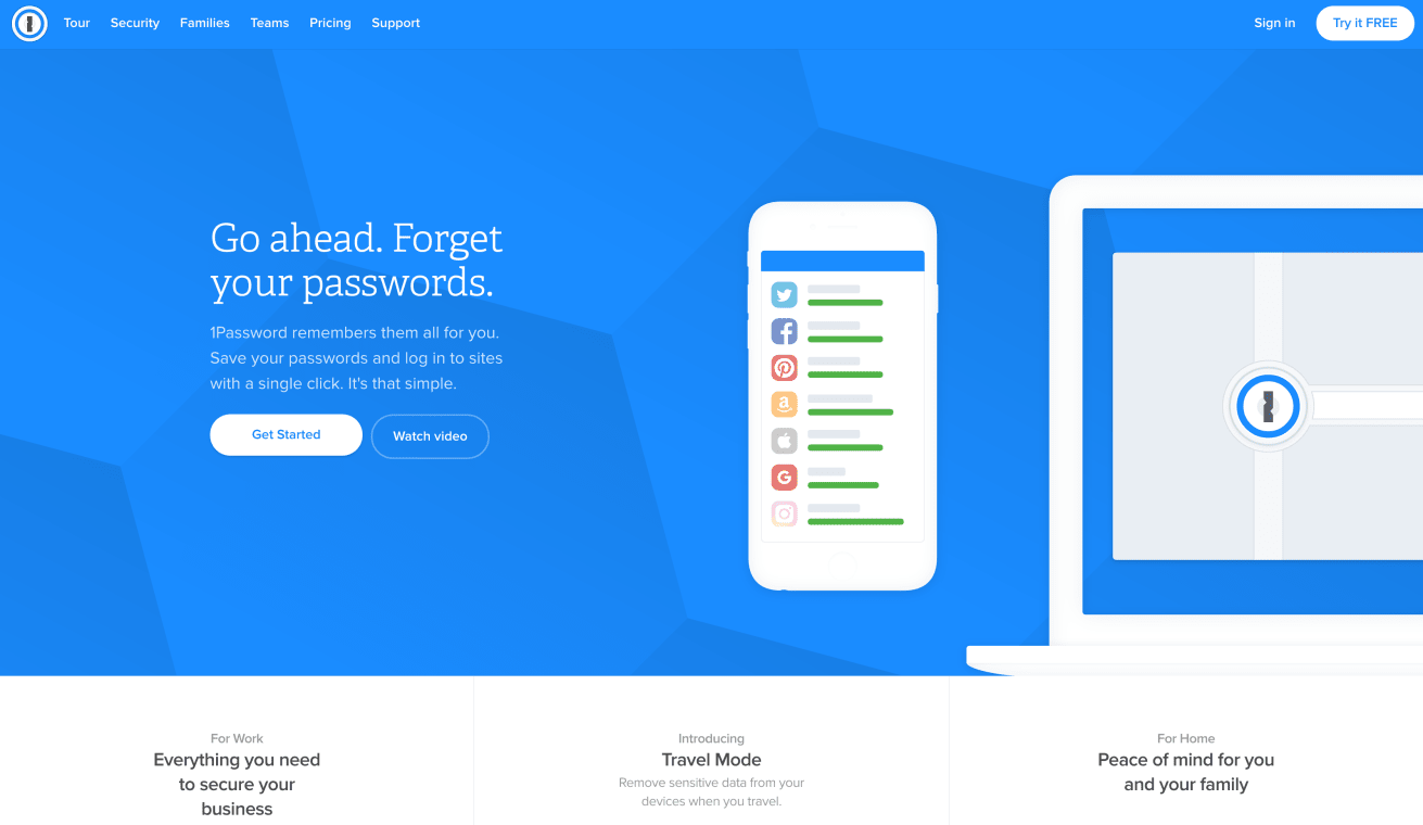 Website of 1Password