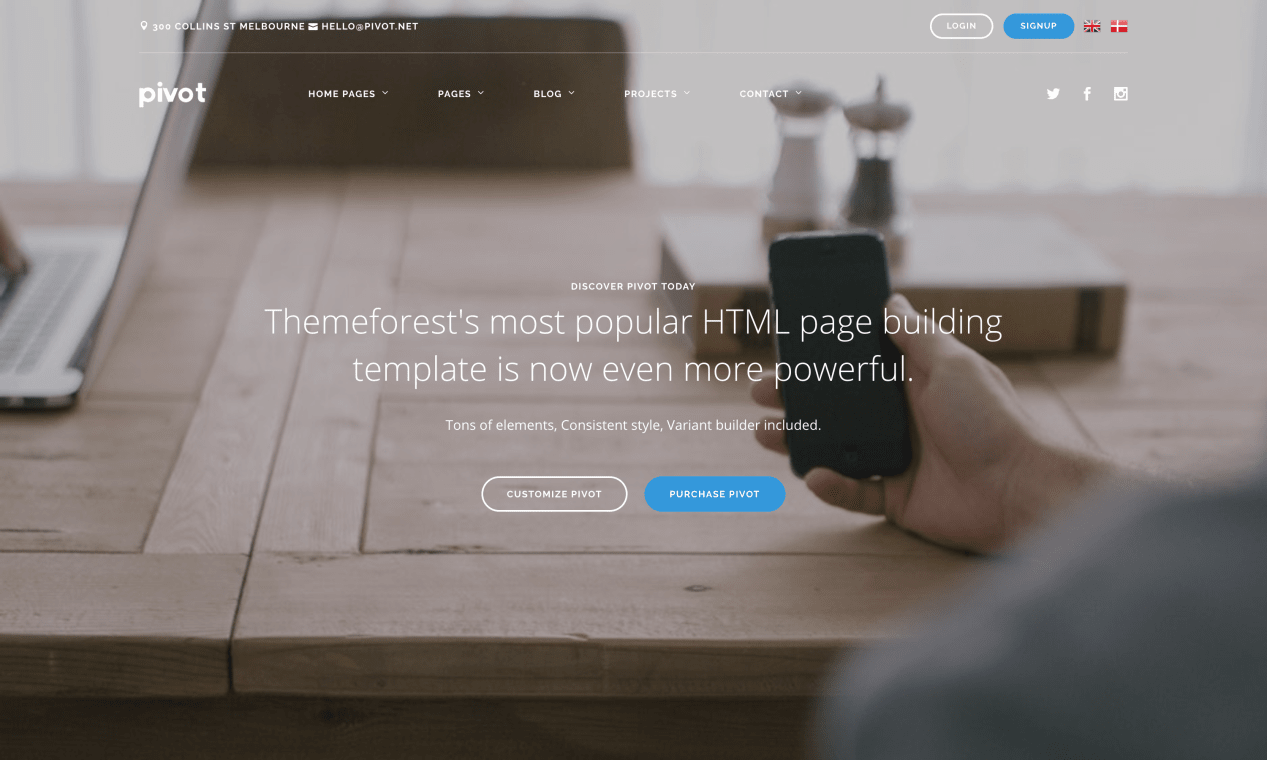 Website of Pivot