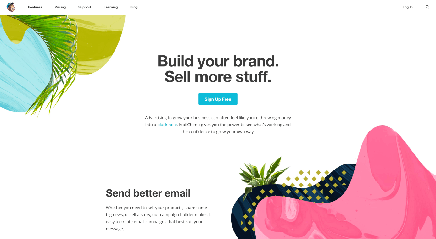 Website of MailChimp