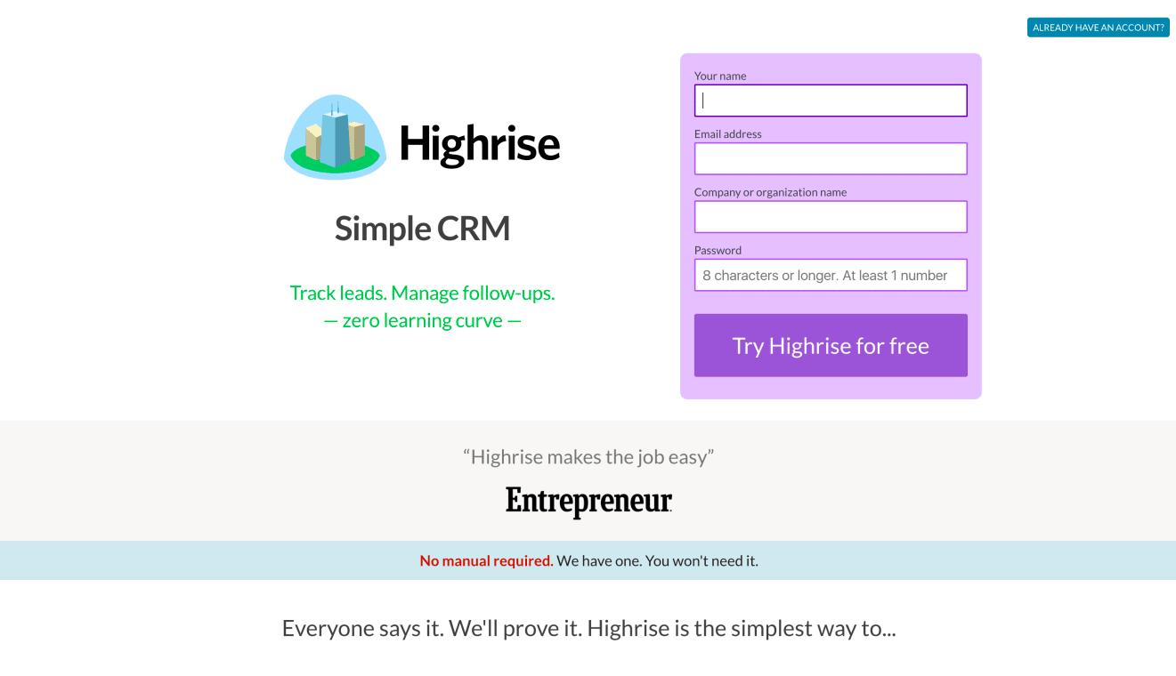 Website of Highrise