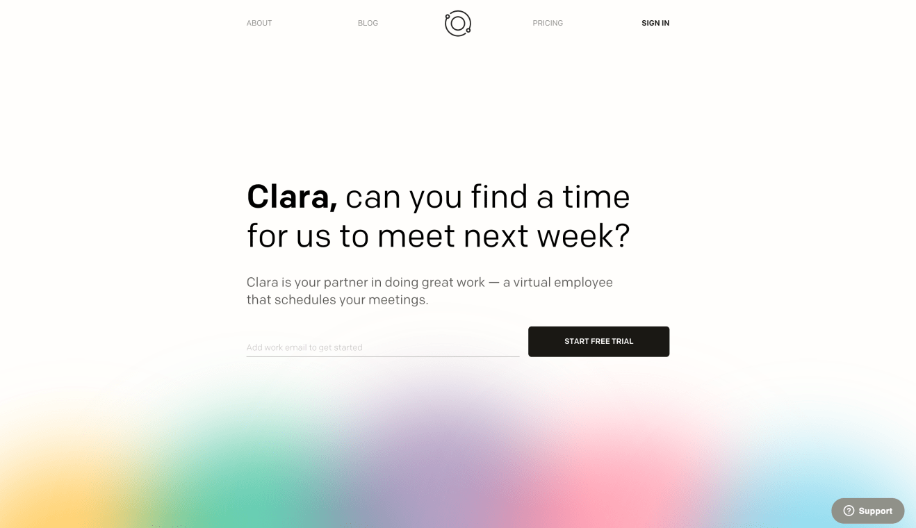 Website of Clara