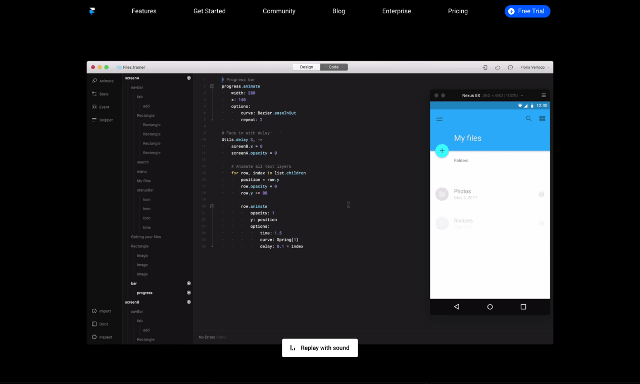 Website of Framer