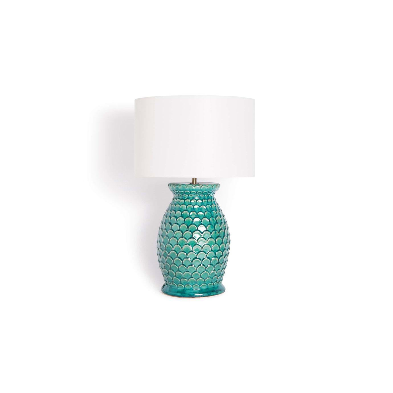 A blue lamp.